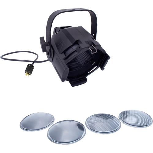 NSI / Leviton Multi-Lens PAR with 4 Lenses and 5-15P Plug (Black)