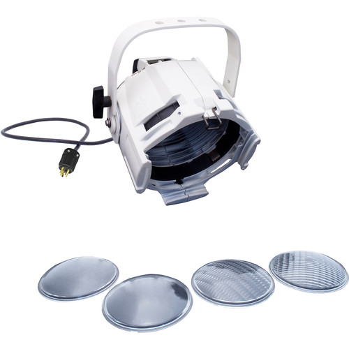 NSI / Leviton Multi-Lens PAR with 4 Lenses and 5-15P Plug (White)