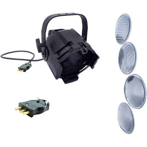NSI / Leviton Multi-Lens PAR with 4 Lenses and Stage Pin Connector (Black)