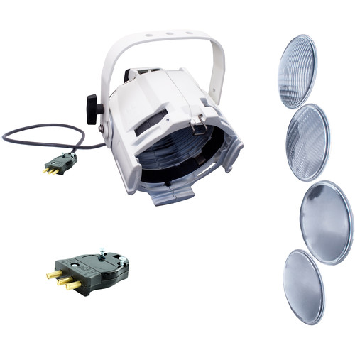 NSI / Leviton Multi-Lens PAR with 4 Lenses and Stage Pin Connector (White)