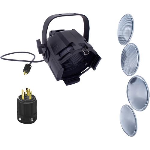 NSI / Leviton Multi-Lens PAR with 4 Lenses and L5-20 Plug (Black)