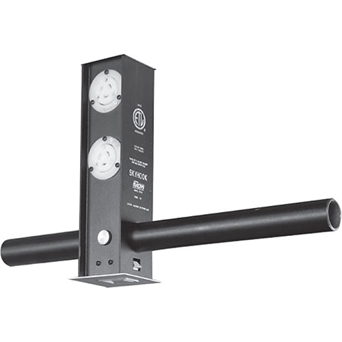 NSI / Leviton Skyhook Retractable Lighting Support with 3 Blank and a DMX 5-Pin Output