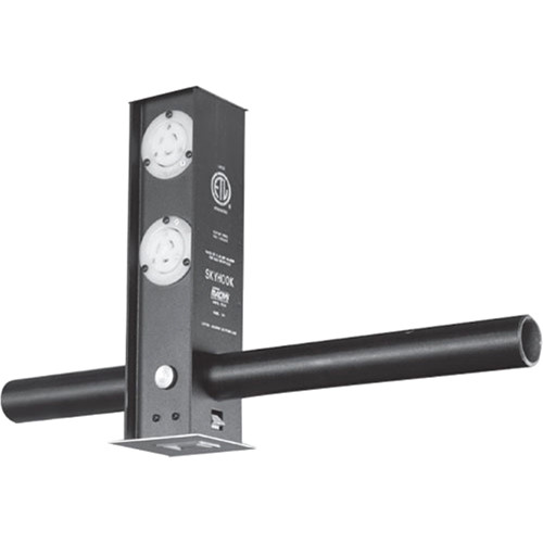 NSI / Leviton Skyhook Retractable Lighting Support with 3 Blank and a DMX 5-Pin Input and Output