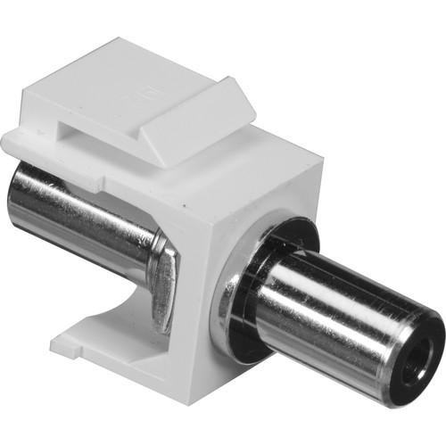 NTW 3KY-FF/3.5-WHT 3.5mm Stereo Audio Keystone Coupler (White)