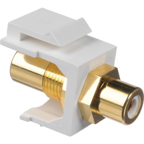 NTW 3KY-FF/RCAX-WHT RCA Audio Keystone Coupler (White)