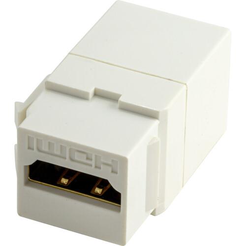 NTW HDMI F/F Feed Through Snap-In Keystone Jack Insert (White)