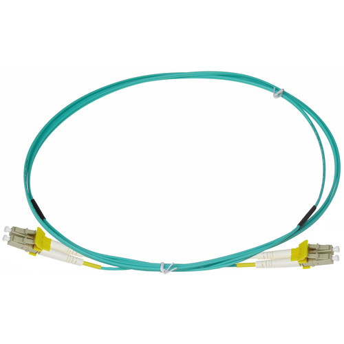 NTW net-Lock LC/LC Fiber Patch Cable OM3 Multimode 50/125 (6.6', Aqua)