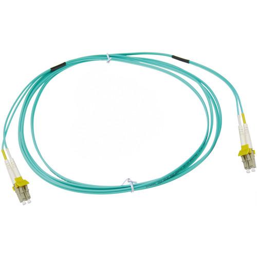 NTW net-Lock LC/LC Fiber Patch Cable OM3 Multimode 50/125 (9.9', Aqua)