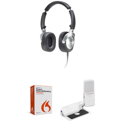 Nuance Dragon NaturallySpeaking 13 Premium Software with USB Mic & Headphones Kit