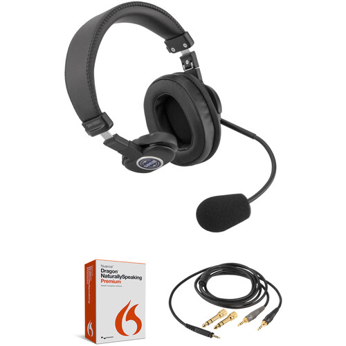 Nuance Dragon NaturallySpeaking 13 Premium Kit with Headset and Cable (Single-Ear)
