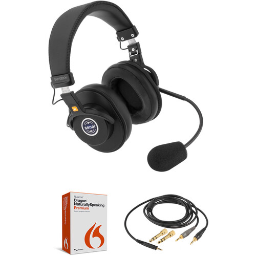 Nuance Dragon NaturallySpeaking 13 Premium Kit with Headset and Cable (Dual-Ear)