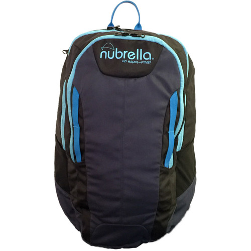 Nubrella Backpack for the Hands-Free Umbrella (Black/Blue)