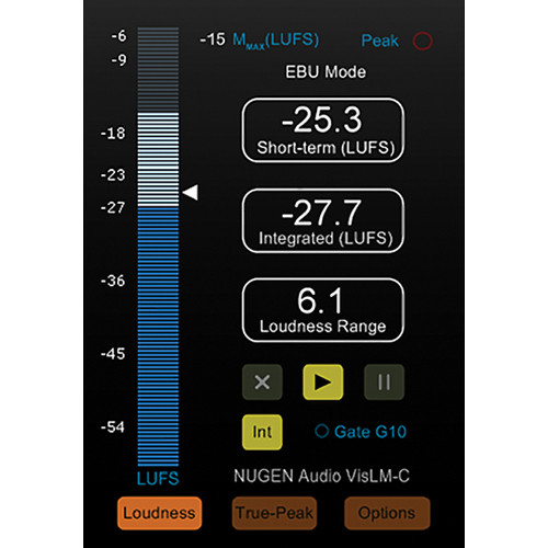 NuGen Audio VisLM-C - Industry Standard Loudness Metering Plug-In (Download)
