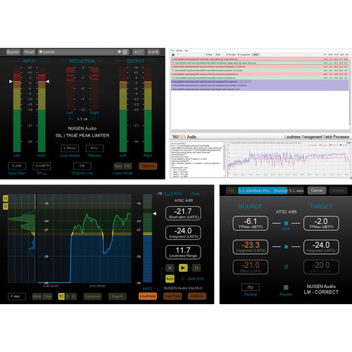 NuGen Audio Complete Loudness Solution - Loudness Toolkit Software Bundle (Download)