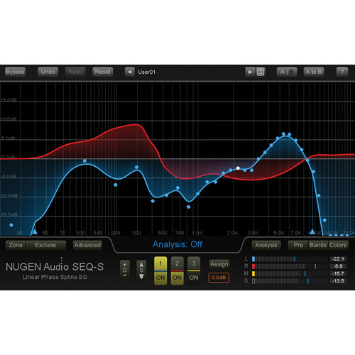"NuGen Audio SEQ-S Linear Phase EQ - Spline ""Match"" EQ Plug-In (Download)"