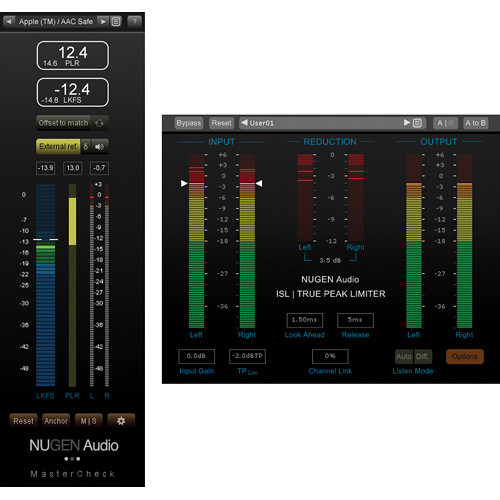 NuGen Audio MasterCheck & ISL - Loudness & Dynamics Tools with Peak Limiter Bundle (Download)