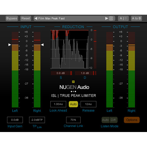 NuGen Audio ISL 2 DSP - Real Time True Peak Limiter Plug-In for Pro Tools HDX (Download)