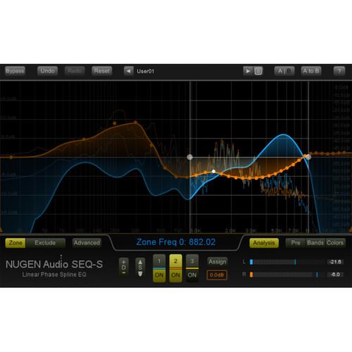 NuGen Audio SEQ-ST - Stereo Linear-Phase Spline EQ Plug-In (Download)