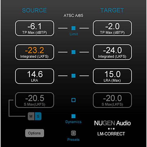 NuGen Audio LM-Correct DynApt Extension - Efficient Dynamics Processing for LM-Correct (Download)