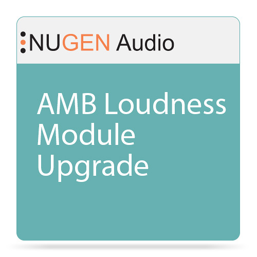 NuGen Audio AMB Loudness Module Upgrade - Loudness Batch-Processing Software (Download)