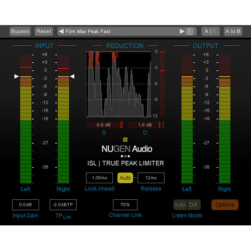NuGen Audio ISL 2 Upgrade from ISL 2st - Real-Time True Peak Limiter Plug-In (Download)
