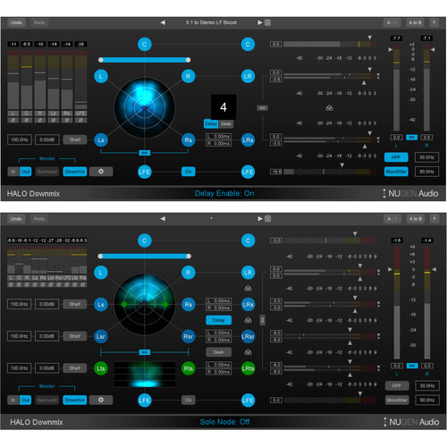 NuGen Audio Halo Downmix Surround to Stereo Downmixer Plug-In with 3D Immersive Extension (Download)