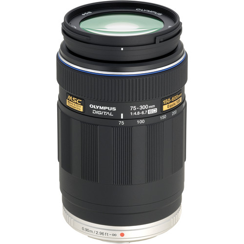 Olympus 75-300mm f/4.8-6.7 M.Zuiko Lens for Micro Four Thirds System (Black)