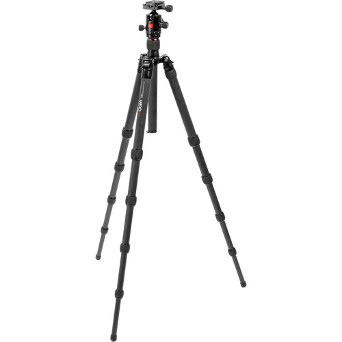 Oben CT-3520 5-Section Carbon Fiber Folding Tripod with BB-1T Ball Head