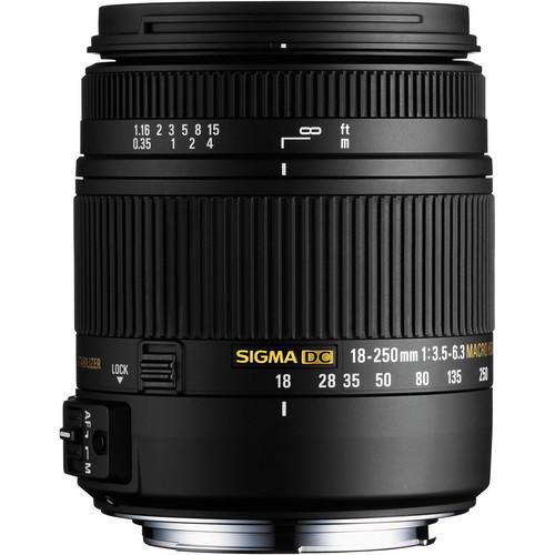 Sigma 18-250mm F3.5-6.3 DC Macro OS HSM for Sigma SA Mount