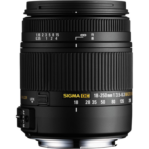 Sigma 18-250mm F3.5-6.3 DC Macro OS HSM for Nikon F Mount