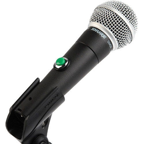 Remote Audio SHURE SM58 w/PTT MOMENTARY ON/OFF SWTC