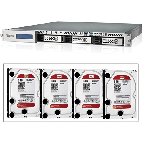 Thecus N4510UR 1U RACK-MNT 4-BAY RAID/12TB HD