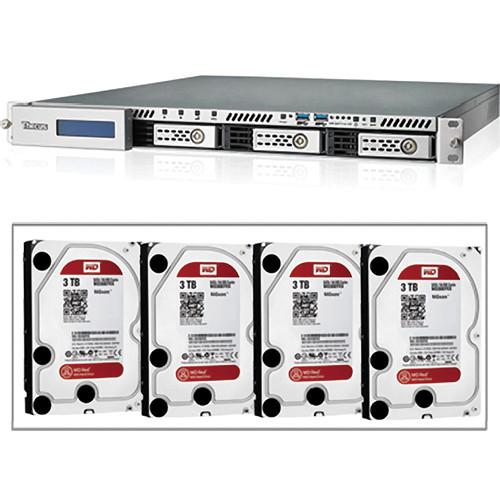 Thecus N4510US 1U RACK-MNT 4-BAY SRVR/12TB HD