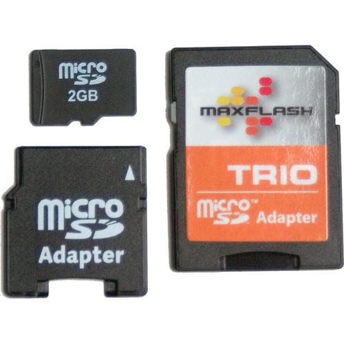 KJB Security Products 2GB MICRO HC CARD w/TRIO MINI/SD ADAP