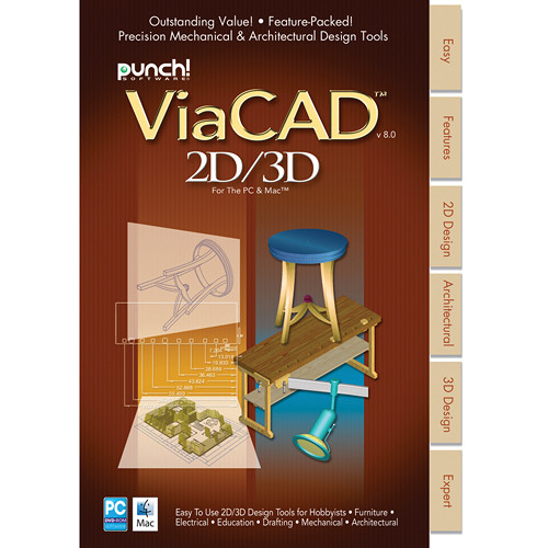 Encore PUNCH! VIACAD 2D/3D V8 SOFTWARE (MAC) 00070467M B&H