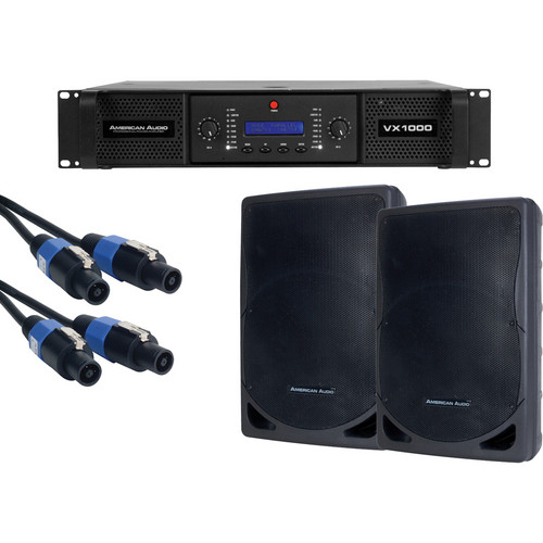 American Audio DJ AMP PACK VX-1000/2-XSP-15/2-SK-2516