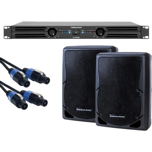 American Audio DJ AMP PACK VLP300/2-XSP-8/2-SK-2516