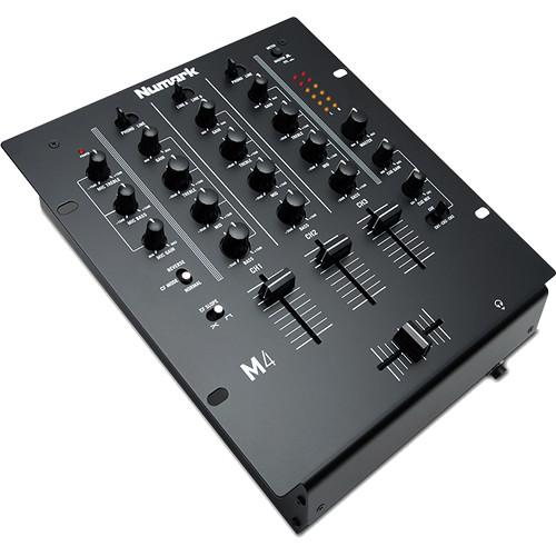 Numark M4 - Three-Channel DJ Mixer with 3-Band EQ (Black)