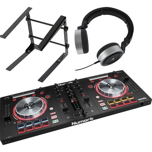 Numark Mixtrack Pro 3 DJ Controller Kit with DJ Headphones and Laptop Stand