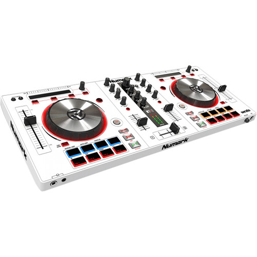 Numark Mixtrack Pro 3 - DJ Controller for Serato DJ with Integrated Sound Card (White)
