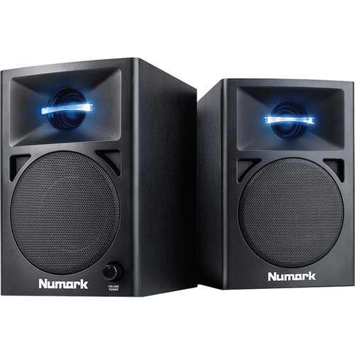 Numark N-Wave 360 Powered Desktop DJ Monitors (Pair)