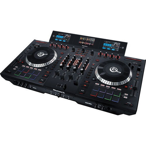 Numark NS7 III 4-Deck Serato DJ Controller Kit with Carry Case