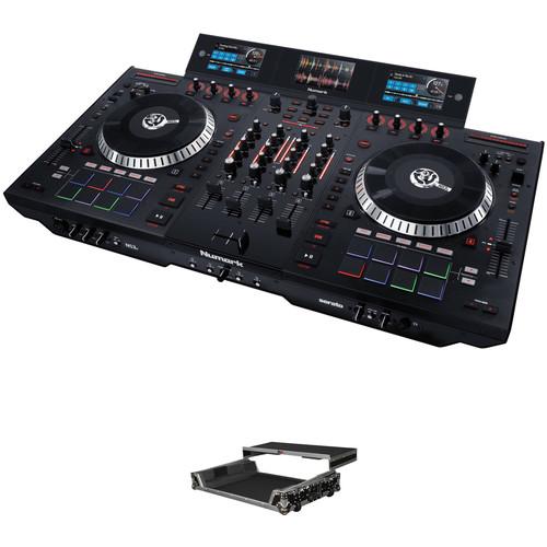 Numark NS7 III 4-Deck Serato DJ Controller Kit with Hard Case