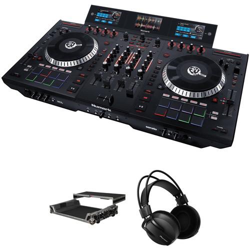 Numark NS7 III Serato DJ Controller Kit with Flight Case and Headphones