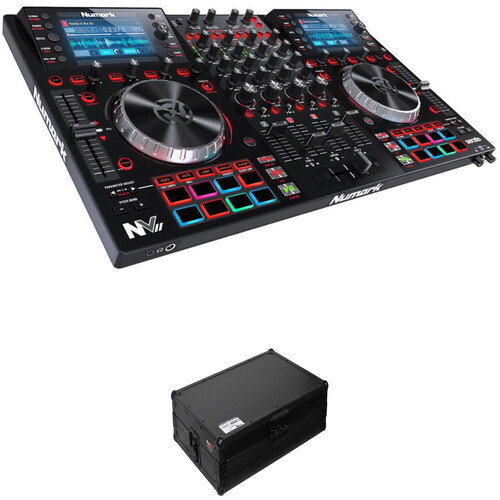 Numark NVII Dual-Display Serato Controller Kit with Flight Case