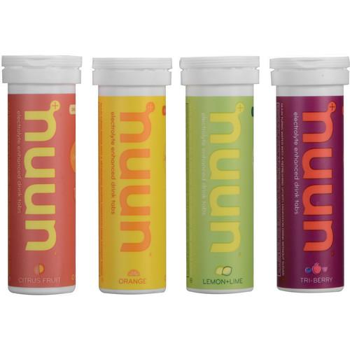 nuun Active Hydration Tablets (4-Pack / Citrus, Lemon-Lime, Orange, Tri-Berry)