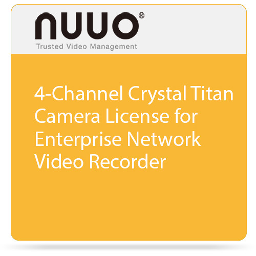 NUUO Enterprise Camera License for Crystal NVR (4 Channels)