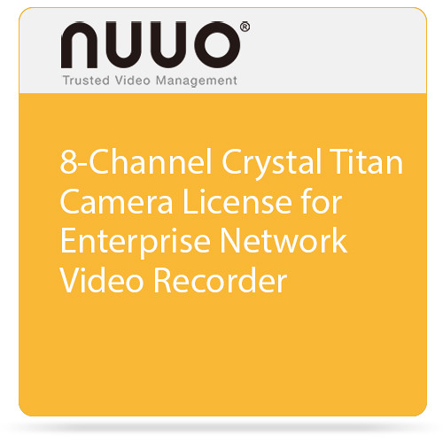 NUUO Enterprise Camera License for Crystal NVR (8 Channels)