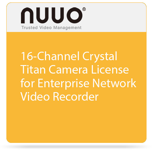 NUUO Enterprise Camera License for Crystal NVR (16 Channels)