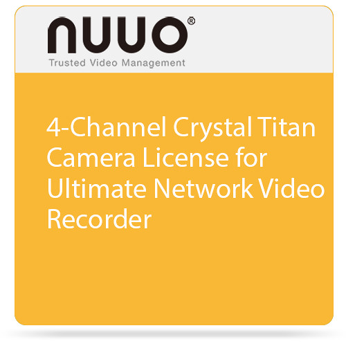 NUUO Ultimate Camera License for Crystal NVR (4 Channels)